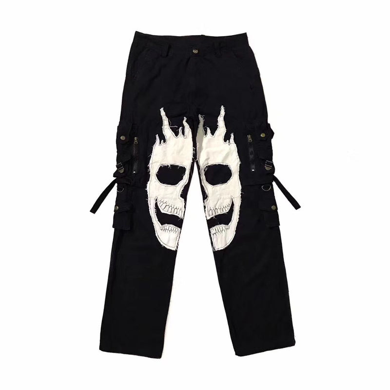 EMBROIDERY SKULL PANTS