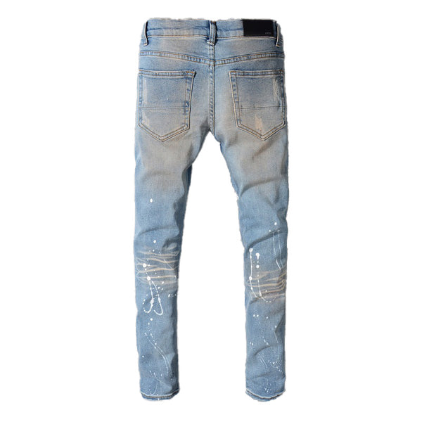 CRYSTAL DESTROYED DENIM V2