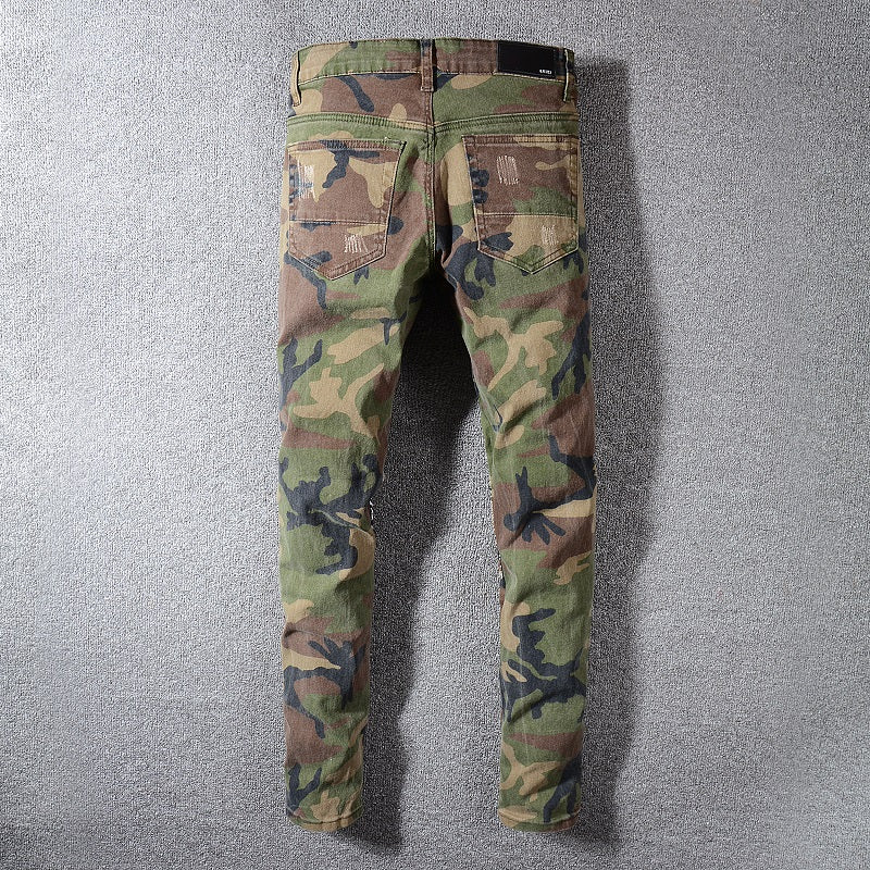 PATCHED DENIM CAMO