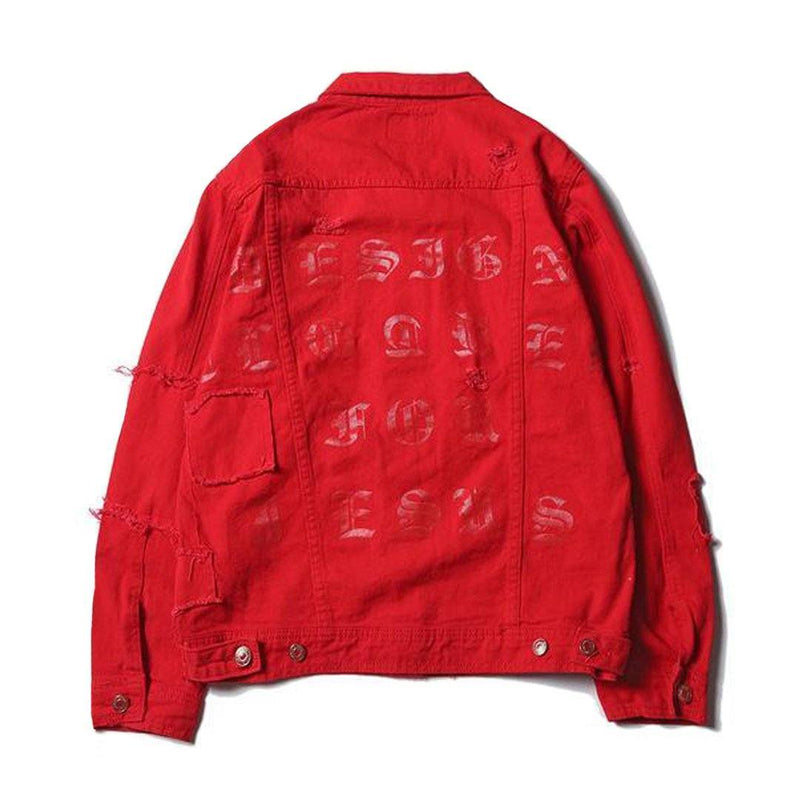 """STRIVE"" DENIM JACKET Red"