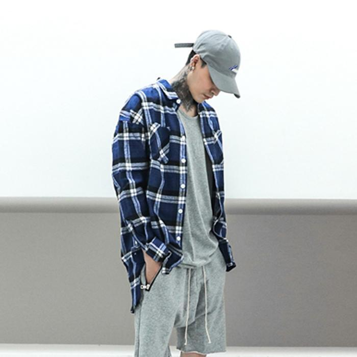 ESSENTIAL FLANNEL - BLUE