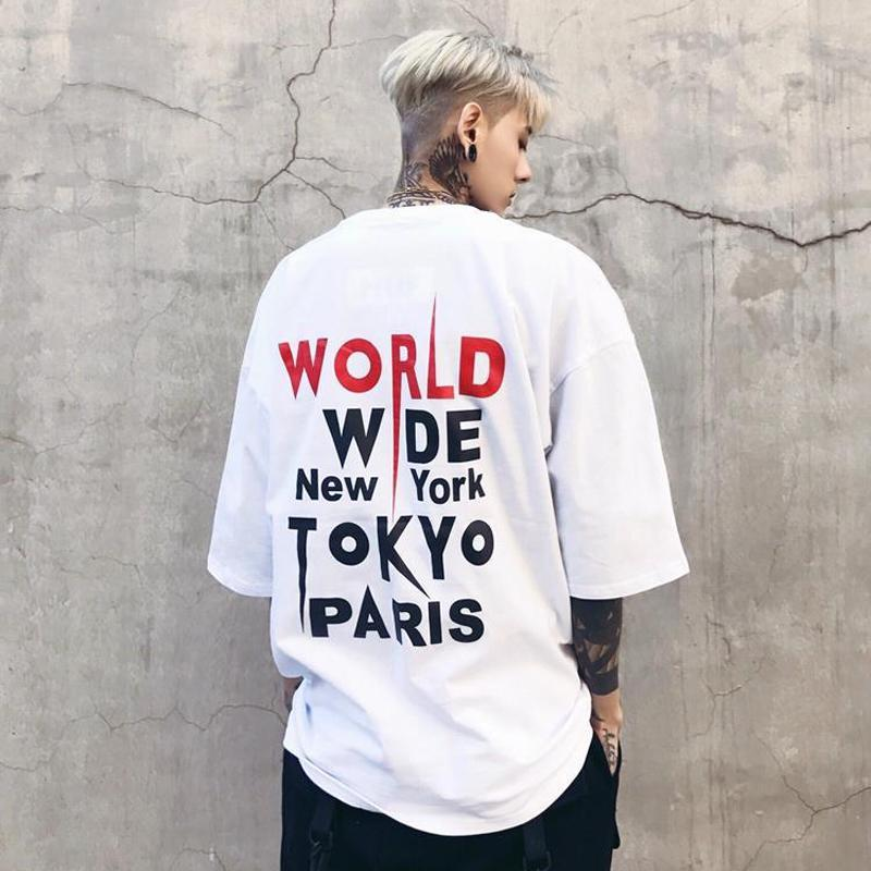"""WORLD WIDE"" T-SHIRT - WHITE"
