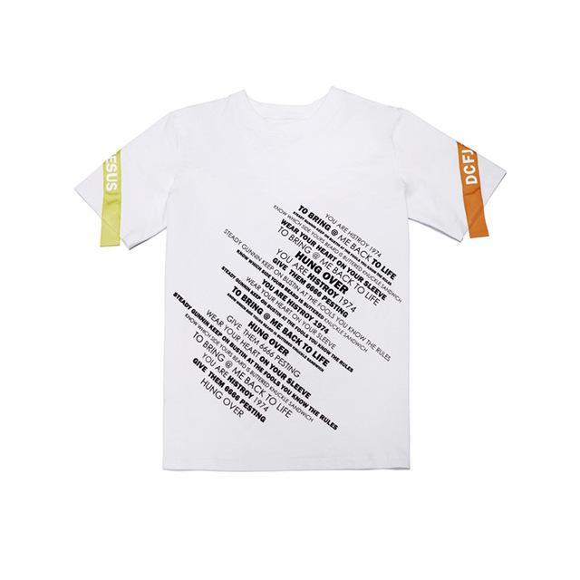 PRINTED T-SHIRT WHITE STREETFASHION