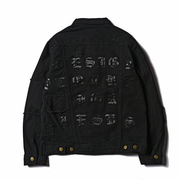 """STRIVE"" DENIM JACKET Black"