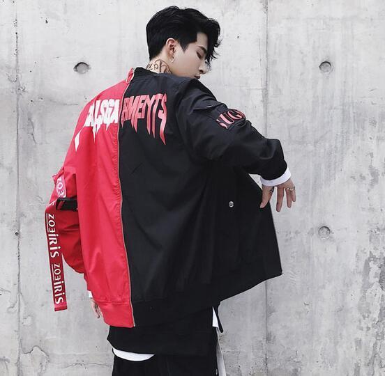 SALSGA BOMBER JACKET two color splited jacket