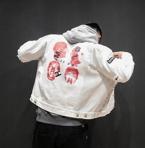 MIND VS MATTER DENIM JACKET - WHITE STREETFASHION