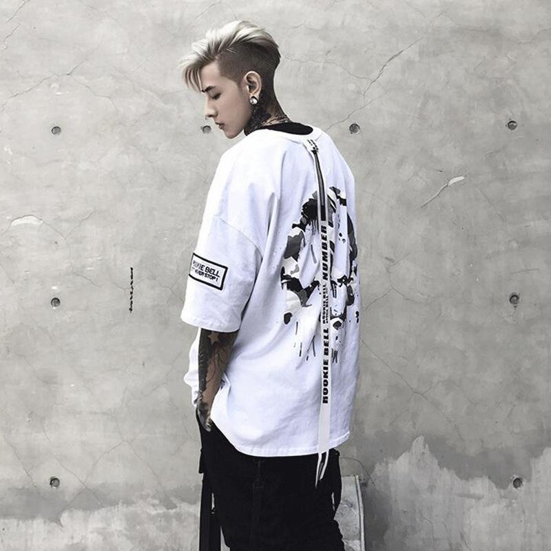 """ROCK"" T-SHIRT STREETFASHION WHITE"