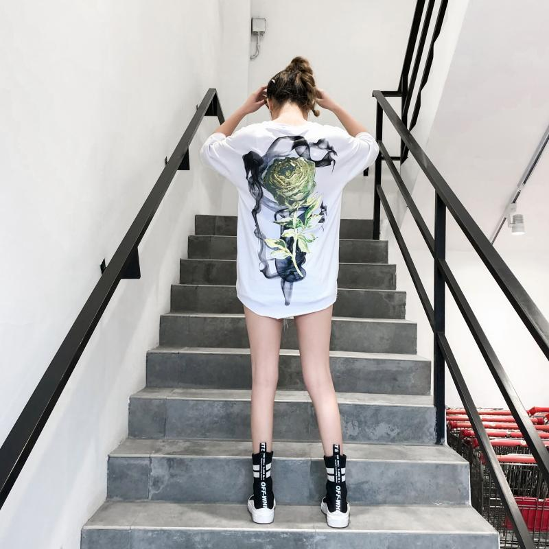 SMOKING ROSE TEE