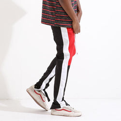 RETRO PANTS - PATCH WORK RED