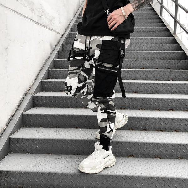 CAMO PANTS - GREY / BLACK