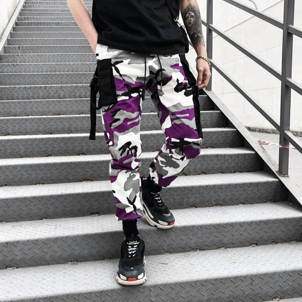 CAMO PANTS - PURPLE / BLACK