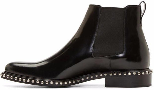 PEARL BLACK CHELSEA BOOTS