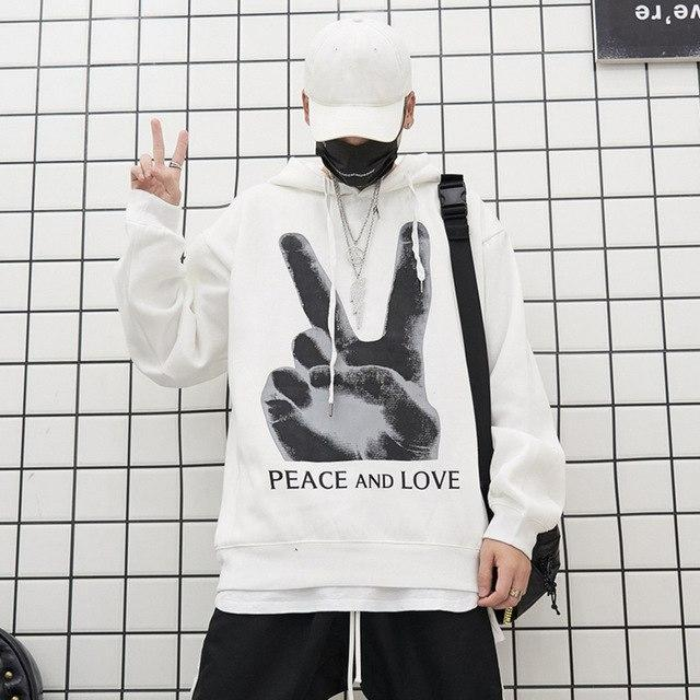 PEACE AND LOOVE HOODIE