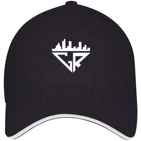 Image of City Racks USA Made Structured Twill Cap With Sandwich Visor