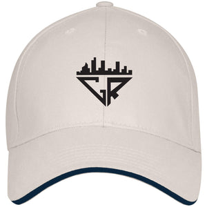 City Racks USA Made Structured Twill Cap With Sandwich Visor