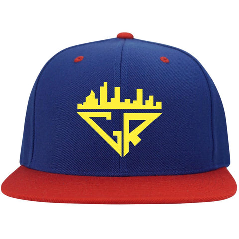 City Racks Flat Bill High-Profile Snapback Hat - Athletic Gold