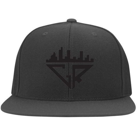 Image of City Racks Flat Bill Twill Flexfit Cap - Black