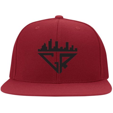 City Racks Flat Bill Twill Flexfit Cap - Black
