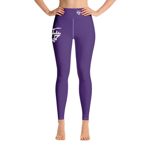 Image of City Racks Active, DUCK OR EAGLE?, Women's, Purple, Yoga Leggings