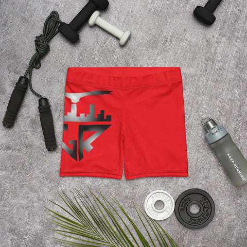 City Racks Active, Red, Women's, Fitted Shorts