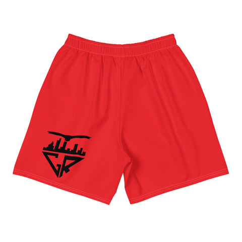 Image of City Racks Active, Men's, Athletic, Red, Long Shorts