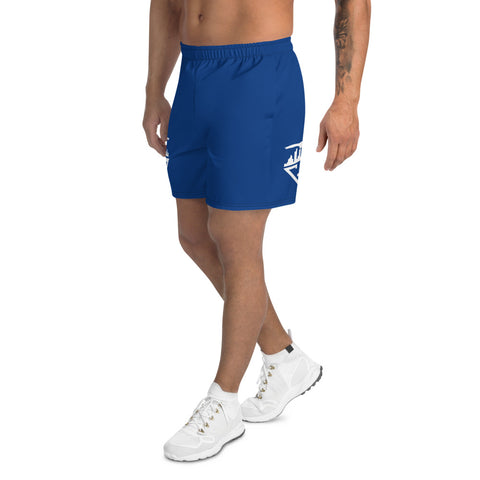 Image of City Racks Active, Men's, Athletic, Blue, Long Shorts