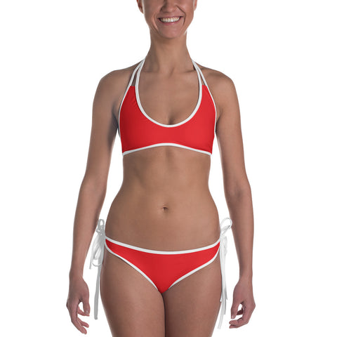 City Racks Active, Two-Piece, Reversible, Red, Bikini
