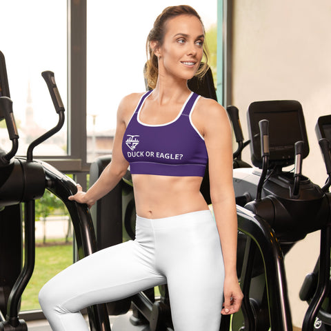 Image of City Racks Active, DUCK OR EAGLE?, Purple, Padded Sports Bra