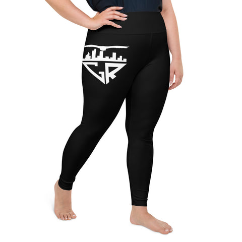 Image of City Racks Active, Women's, Black, Plus Size Leggings