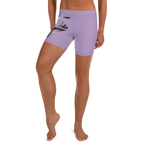 City Racks Active, Lavender, Women's, Fitted Shorts