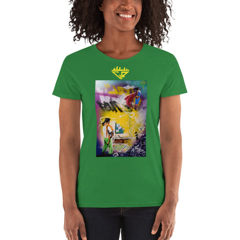 Image of City Rack's, Super Dad Dreams, Women's, short sleeve, t-shirt
