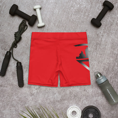 Image of City Racks Active, Red, Women's, Fitted Shorts