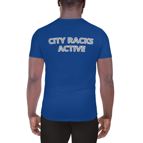 City Racks Active, Everything Before Struggling, Men's, Athletic, Blue, T-shirt