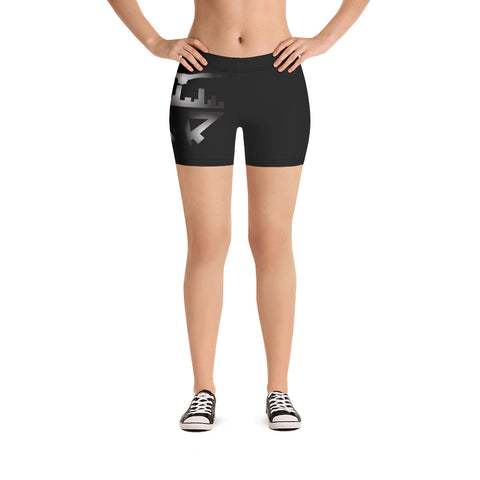 City Racks Active, Black, Women's, Fitted Shorts