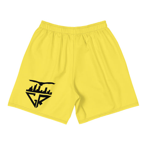 Image of City Racks Active, Men's, Athletic, Yellow, Long Shorts
