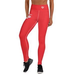 City Racks Active, DUCK OR EAGLE?, Women's, Red, Yoga Leggings