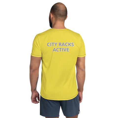 City Racks Active, Comfort Strength, Yellow, Men's Athletic T-shirt