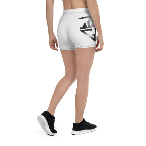 City Racks Active, White, Women's, Fitted Shorts