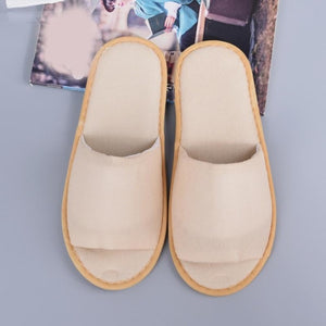 2019 New Simple Unisex Slippers Hotel Travel Spa Portable Men Slippers Disposable Home Guest Indoor Cotton Fabric Men Slipper