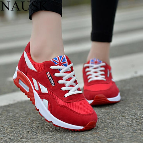 NAUSK Sneakers Women New Breathable Spring Casual Shoes Basket Flats Female Platform Shoes Woman Trainers Shoes Chaussure Femme