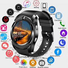 Charger l'image dans la galerie, Smartwatch Touch Screen Wrist Watch with Camera/SIM Card Slot Waterproof Smart Watch Bluetooth Movement SmartWatch Bluetooth