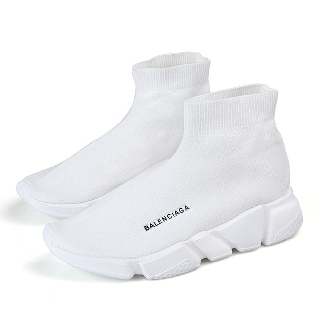 HAROGATH High Top Casual Sock Shoes Men Solid Color Unisex Sneakers Leisure Couple Shoes Men Woman Zapatillas Hombre Deportiva