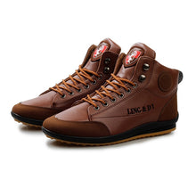 Charger l'image dans la galerie, 2019 Men Shoes Comfortable Chaussure Homme Casual Flat Boots Men Microfiber Leather Winter Autumn Hiking Ankle Boots