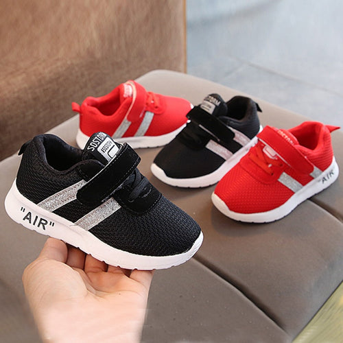 Autumn Children Sneaker Infant Kids shoes for Baby Girls Boys Mesh Soft Bottom Solid Bling Sport Running Casual shoes baby shoes