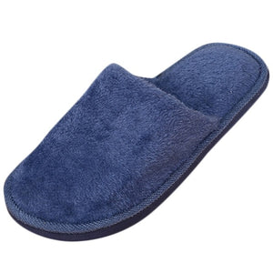 Slippers Men Winter Fleece House Shoes Floor Lovers Home Shoes Warm Soft Flats Solid  Men Shoes Indoor Slip-On Shoes  #YL5