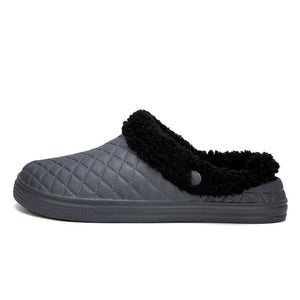 Shoes Men Cotton Slippers Indoor Couples Plush Warm Winter Slippers Mules Clogs Shoes Female Hollow Slippers Bedroom Shoes
