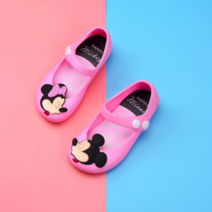 Cartoon Mouse Sandals Children's Jelly Lollipop Fish Mouth Animal Sandal Summer Kids Girls PVC Toddler Birthday Party Gift Shoes