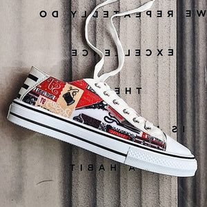 Graffiti Students Lovers Shoes Recreational Skateboard Shoes for Men and Women Classic Casual Sneakers Old Skool Tenis Masculino