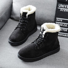 Charger l'image dans la galerie, Free Shipping Women Boots Faux Suede Snow Boots Women Ankle Boots Warm Fur women booties Solid Winter Boots Leather Women Shoes