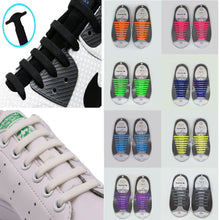 Charger l'image dans la galerie, 8 Pairs/Set Silicone Shoelaces Adult Multifunction Shoelacesal Elastic Shoe String No Tie Shoelaces for Kids Lacing Shoes 2019